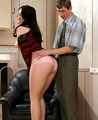 The best amusement for strap-on armed chick is sissy guy�s ass-splitting